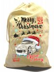 X-Large Cotton Drawcord Koolart Christmas Santa Sack Stocking Gift Bag & Mk2 MX-5 Miata Eunos Image